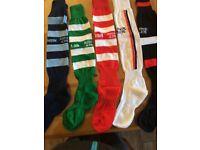 hooded tops, jackets, football socks all new. Garments have logos of local football or gaa clubs.