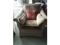 Beautiful, big and comfy 4 piece sofa suite recently upholstered