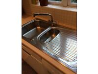 Stainless steel kitchen sink & mixer tap