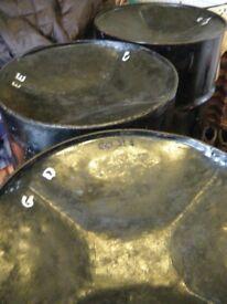 5 Tenor bass set, cheap - steel pan drums