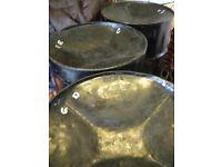 5 Tenor bass set, cheap - steel pan