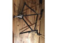 Black 23 inch steel frame- vintage- Perfect for a custom build, just needs wheels!