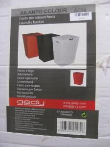 Nameek Gedy Italy Rectangular Laundry Basket Hamper. Made From Faux Leather. 12.5W x 11D x 21H