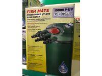 Fish Mate 10000 P-UV Pressurised Pond Pump BNIB (2 available)