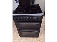 BLACK HOTPOINT 60cm ELECTRIC COOKER, NEW MODEL ,EXCELLENT CONDITION, 4 MONTHS WARRANTY