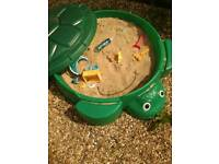 Turtle sand pit