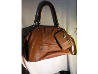Jimmy Choo Leather Shoulder Tote Bag Handbag & Purse Tan Brown RRP £250