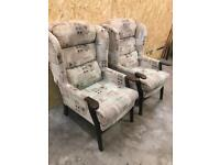 Two nursing chairs