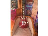 Lespaul copy by spur lovely guitar good action no fretwear in good condition
