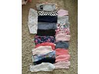 0-3 months girls 24 pairs of leggings + 24 tops