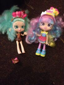 Shopkins dolls x2