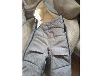 Grey Stokke split leg footmuff