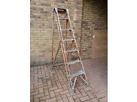 Wooden A-Frame Ladder