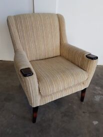PARKER KNOLL SIENNA LOW BACK ARMCHAIR / FIRESIDE FABRIC RETRO LOOKING CHAIR DELIVERY AVAILABLE