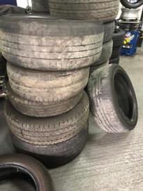 Scrap used tyres for free