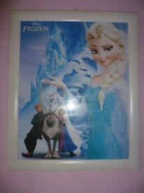 Frozen single duvet cover & framed picture