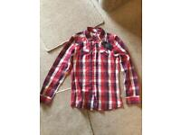NEW with tags Fly 53 Shirt Red Check size S (but could fit M as is a bit larger than average S)