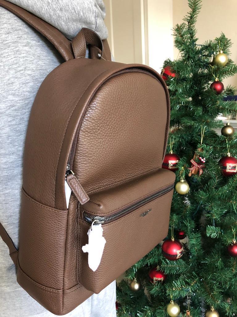 a6949da34b4735 Michael Kors Men s brown leather backpack