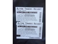 2 TICKETS ALTON TOWERS