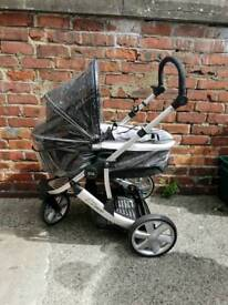 Britax 3 wheel pram/pushchair