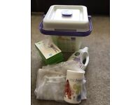 Mio Nappy Bucket with Laundry Bags, Nappy cleanser, Laundry cleanser & Nappy soak.