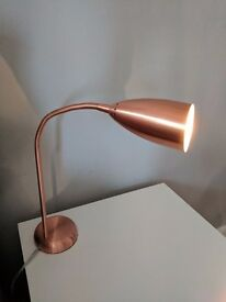 Copper Brushed Metal Touch Table Lamp from Habitat