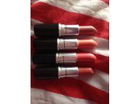4 genuine M.A.C lipsticks only £15 !