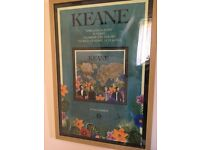 KEANE – SIGNED BEST OF ALBUM PROMO POSTER (with photo of Richard signing it) – in light oak frame