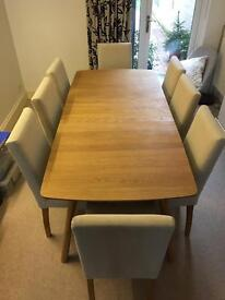 Extendable Oak Table which can seat up to 8