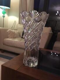 Tall cut crystal Vase