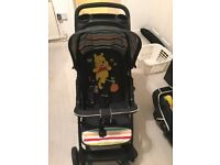 Hauck travel system (pram & car seat) fisher price deluxe play mat & changing mat