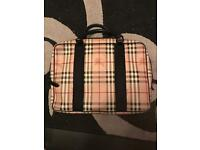 Genuine Burberry haymarket check laptop bag