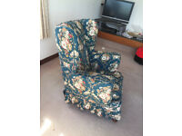 Wingback armchair. Loose covers