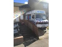 mercedes 814 soft ice cream swap or px car'van or for hard ice cream van or sensible offers email