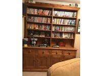 Large pine dresser/bookcase