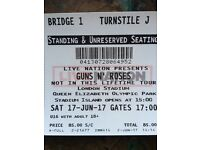 GUNS N' ROSES 2 TICKETS AVAIL TONIGHT IN LONDON!