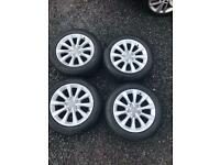 "17 inch Audi Alloy wheels. 17""."
