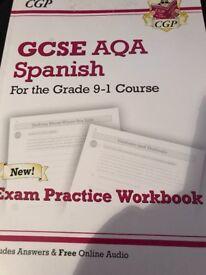 GCSE Spanish exam practise work book