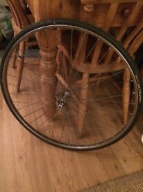 Front wheel racing bike - from Raleigh 1980s