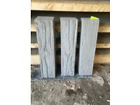 *New* Log Effect Concrete Flags / Stepping Stones / Paving