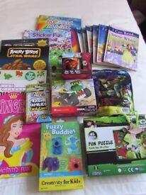 CHILDREN'S BOOKS, PUZZLES, KNEX, DISNEY CARS MUG ETC