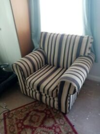 Two seater and one seater sofa and chair