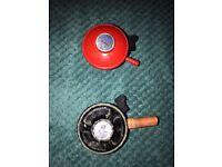 2x Gas regulators for butane/propane/LPG