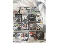 ps3 whit game and 3 control