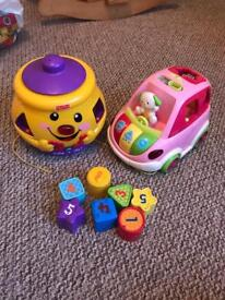 Fisher price and vtech sorting toys