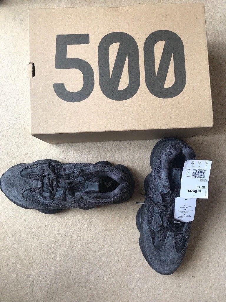 974f129ef83 Adidas Yeezy 500 Utility Black UK 9 BNIB with tags