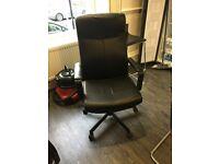 2 x Ikea Malkolm Office Chair Black Leather