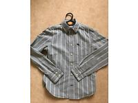 Boys Abercrombie Grey striped shirt