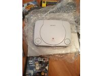 Boxed PS One and games
