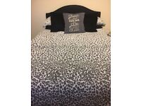 Comfortable double bed, underneath storage, comes with mattress